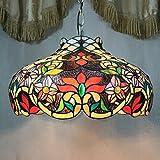 12-Zoll-Weinlese-Pastoral Rustic Buntglas Tiffany Deckenleuchte Pendelleuchte Wohnzimmer Licht-Hallen-Lampe