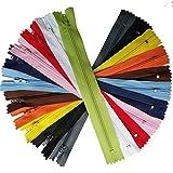 Upick Cerniere colorate in nylon 44 pezzi bobina sarto strumenti di cucito artigianale 11 colori lunghezza totale cerniera 20,3 cm Multi-color