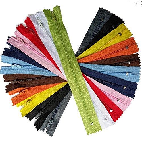 Chenkou craft, zip a spirale da sartoria in nylon, accessorio per il cucito multi-color