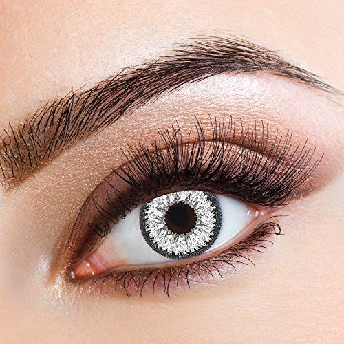Lenti a contatto colorate Diamond Fever Darkgray by aricona - Jahreslinsen für helle Augenfarben, ohne Stärke, Farblinsen als Modeaccessoire für den täglichen Gebrauch