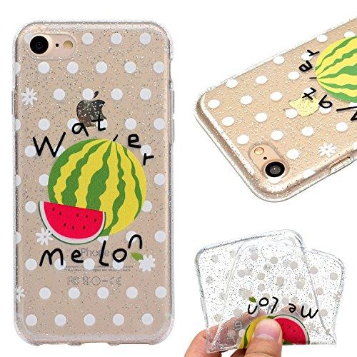 Custodia Cover Per Apple iPhone 7 plus / 8 plus , WenJie mango Trasparente Silicone Sottile Back Case Molle di TPU Trasparente per Apple iPhone 7 plus / 8 plus MM55