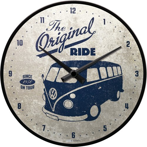Nostalgic-Art 51063 Volkswagen - VW Bulli - The Original Ride, Wanduhr 31cm