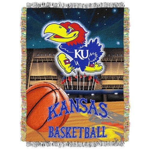 NCAA 48-inch-by-60-inch Acryl Tapisserie Überwurf, Kansas Jayhawks -