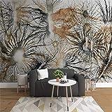 Benutzerdefinierte Tapete Wohnkultur Wandbild Europäischen Retro Abstrakte Baumwurzel Zweige Ölgemälde Tv Hintergrund 3D Tapete, 430 * 300 Cm
