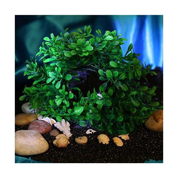 Curve Artificial Plastic Water Plant Decor For Fish Tank Ornament Circular Flexible Underwater
