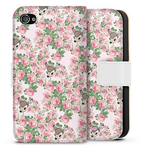 Apple iPhone X Silikon Hülle Case Schutzhülle Disney Bambi Fanartikel Merchandise Sideflip Tasche weiß