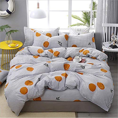 SHJIA Plaids Geometric Bettbezug Set Bettbezug Und Kissenbezüge Tröster Bettwäsche Set A 150x200cm -