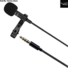 Verox Veronic 3.5 mm Mini Tie Clip Collar Lavalier Lapel Microphone For Smart Devices, For Recording Youtube Vlog Interview/ Podcast