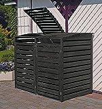 Promadino Mülltonnenbox Vario III Müllbox für 2 Mülltonnen ANTHRAZIT 324/13