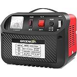 GREENCUT CRB300 - Cargador de batería de coche y moto multifunción de 12V/24V y 30A, cargador con opciones de Carga Rápida y