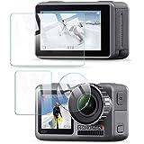 QULLOO Compatibile con DJI Osmo Action Cam Camera Pellicola protettiva vetro temperato Protezione Proteggi Schermo per DJI Os