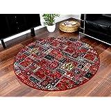 Orient Teppich Empire Rot Rund in 7 Größen, Größe:200 cm Rund