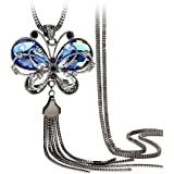 Shining Diva Fashion Jewellery Butterfly Pendent for Girls with Long Chain Pendant Party Stylish Necklace for Women & Girls(B