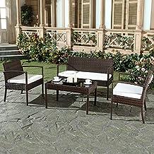 Amazon.fr : Salon Jardin Resine Tressee Marron - Livraison gratuite