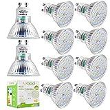 Liqoo® 10 x GU10 6W Bombilla LED Lámpara Bajo Consumo Ahorra 90% Energía Blanco Cálido 2700K Ra Más de 80 AC 220-240V Ángulo de visión 120° 450 Lumen