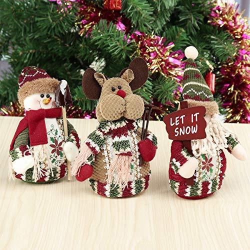 Kungfu Mall Alter Mann Schneemann Elch Tisch Weihnachten Ornament Party Decor Geschenk Hauptdekorationen -