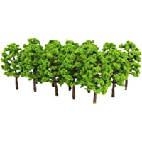 Generic Plastic Model Tress Train Railroad Scenery 1:150 20pcs Light Green