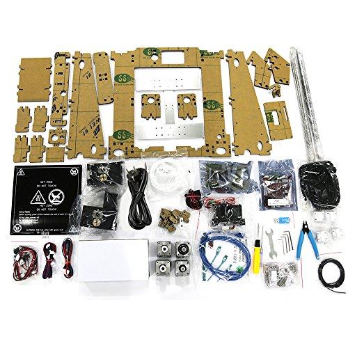 KKmoon 3D Drucker und Zubehör, Wiederherstellen Prusa i3 DIY Selbstmontage LCD Bildschirm mit 16GB Sd Karte, Unterstützen ABS / PLA / HIP / PP / Holz Filament (Max. Druck Größe: 220x 220 x250mm) -