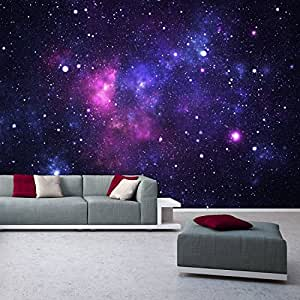 Photo wallpaper mural galaxy 366x254 cm space stars for Amazon wall mural