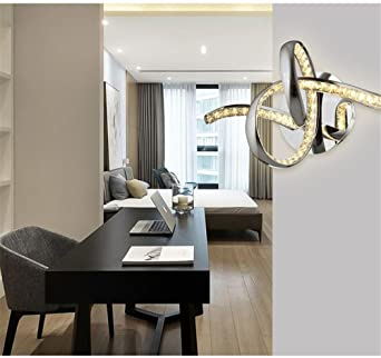 MBEI Modern Creative Design Wall Sconces Lights Bedside Crystal Light  Fixtures Living Room Bedroom Corridor LED Wall Lamps , Cold White:  Amazon.co.uk: ...
