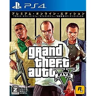 Rockstar Games Grand Theft Auto Ⅴ Premium Online Edition SONY PS4 PLAYSTATION 4 JAPANESE VERSION GTA