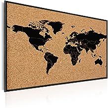 Wandbilder xxl Weltkarte Landkarte moderne Vlies Leinwandbilder k-A-0204-b-e
