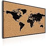 murando - Pinnwand Weltkarte 90x60 cm - Wandbilder als Korktafel-Korkwand nutzbar - Leinwandbilder - Wandbilder XXL - Kontinent Welt Landkarte Karte Reise Geographie k-A-0138-q-a