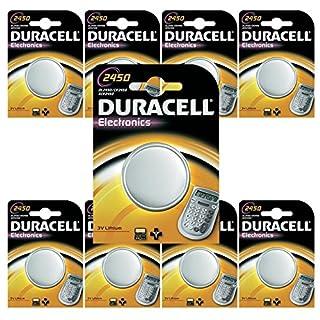 DURACELL Lithium Batterie Aksans 10 DL2450 CR2450 2450 K2450L (10er Set)