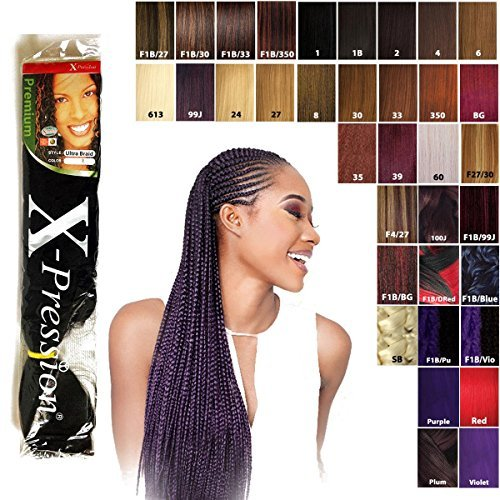 Premium x-pression ultra braid treccia colore 2 (marrone scuro)