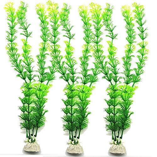 Teabelle - Planta Artificial plástico Acuario, decoración