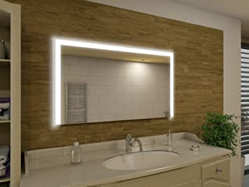 Badspiegel Mit Beleuchtung Seattle M91L3: Design Spiegel Für Badezimmer,  Beleuchtet Mit LED Licht