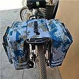 Borsa per bici da corsa Borsa sella Borsa posteriore Borsa bicicletta Borse viaggio Borsa posteriore Borsa trasporto Borsa lavoro Resistente Impermeabile grande capacità viaggi Campeggio esterno (35L)