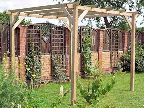F-u pergola gazebo 3x3 in pino impregnato copertura da esterni tettoia