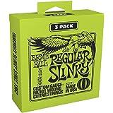Ernie Ball - Lot de 3 cordes pour guitare électrique Slinky Nickel Wound - calibre 10-46