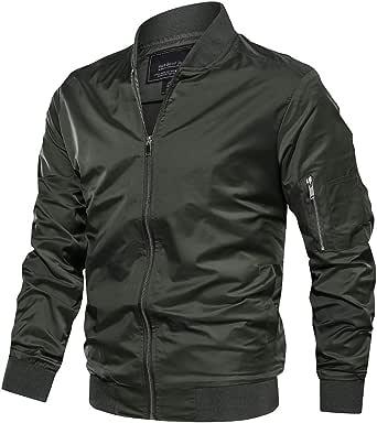 TACVASEN Mens Casual Jacket Lightweight Summer Jackets Sport Bomber Jacket Windbreaker Coat with Pockets