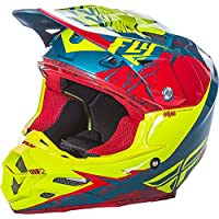 Fly Racing F2 Carbon MIPS Retrospect adultos casco, color rojo, alta visibilidad, tamaño