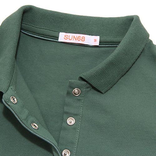 7884O polo donna SUN68 verde manica corta t-shirt SLIM FIT woman Verde
