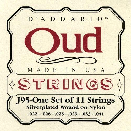 D\'Addario J95 Saitensatz für Ukulele, Dulcimer, Tenor Gitarre, Oud Oud/11-String