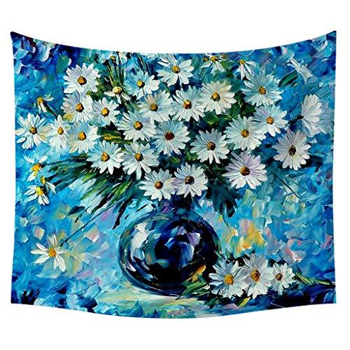 Sannysis Wandteppich Wandtuch Wandbehang Yoga Tapisserie Hippie Tapestry Wanddeko Dekoration für Ihr Zimmer Ölgemälde Blumen Mode Muster Art Dekorativ (A, 150x130cm)