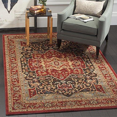 Safavieh Persischer Traditioneller Teppich, MAH625, Gewebter Polypropylen, Rot / Burgund Rot, 200 x 300 cm -