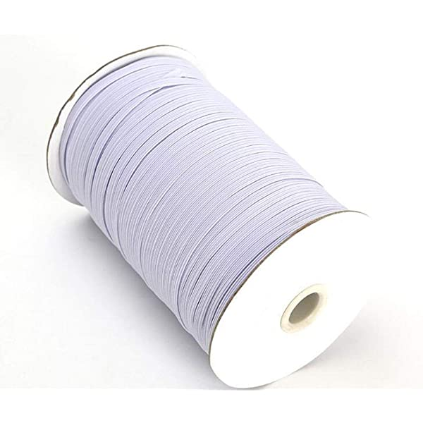AKDSteel 3mm Width Elastic Bands for Sewing Braided Elastic Cord Elastic String Rope Elastic Band 200 yards Autoaccessory Items