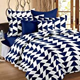 #6: Story@Home Candy 120 TC Double Bedsheet With 2 Pillow Covers, Navy