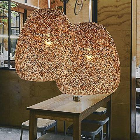 MSAJ-Lampadario di CORDA di canapa Rattan Nordica Ristorante Camera da letto lo Studio creativo di illuminazione sul balcone.