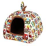 Haustier Haus, Legendog Hundehaus Mehrzweck Waschbar Faltbare Warme Welpen Höhle Katze Schlafbett für Haustier L
