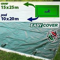 Telo di copertura invernale per piscina 10 X 20 mt predisposto per tubolari