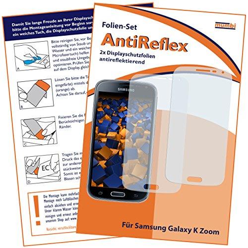 mumbi Schutzfolie kompatibel mit Samsung Galaxy K Zoom Folie matt, Bildschirmschutzfolie (2x)