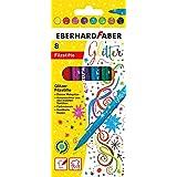 Eberhard Faber AE9551008 Glitter Markörer, Flerfärgad, Paket med 8