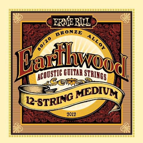 Ernie Ball Earthwood Medium 12-Saiter 80/20 Bronze Akustikgitarre Saiten - 11-28 Gauge
