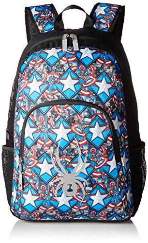 Spyder Active Sports Boy 's Marvel Rucksack, Jungen, Black/Captain -