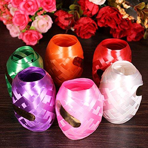6Folie Ballon Band Seil Gurt Decor Ringelband Rolle für Partys, Festival, Floristen, Basteln und Geschenkverpackungen